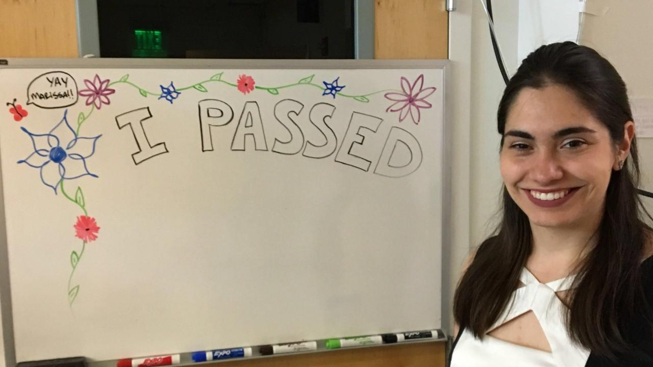 Marissa advances to PhD Candidacy